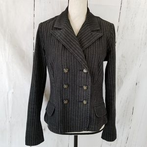 Ralph Lauren Jeans Co Denim Jacket M Black Stripe